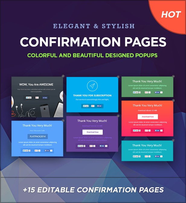 conf pages - FLATPACK – Landing Pages Pack With Page Builder